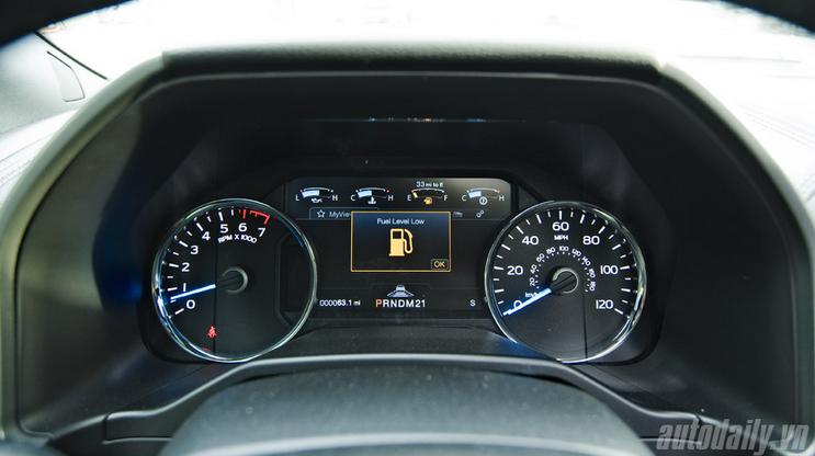 Đồng hồ thông số hiển thị đầy đủ các thông tin cần thiết.
